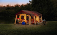 Northwest Territory Front Porch Tent at dark