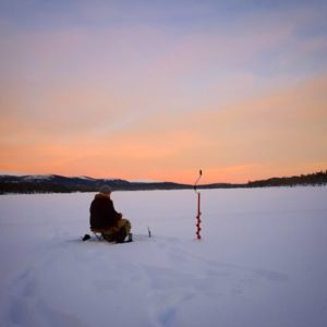 Arctic ice fishing