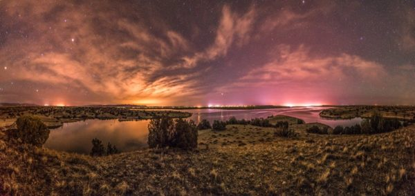Lake Pueblo at night