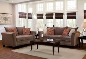 Riverstone Espresso 2-piece living room set