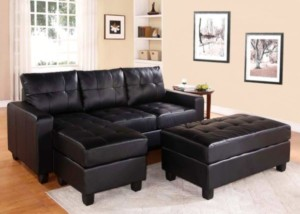 US Tamex Overbey Sofa with Chaise and Ottoman Leather