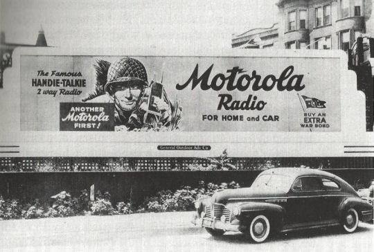 Motorola Radio For Home And Car Billboard