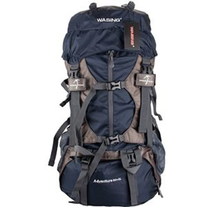 WASING 55L Internal Frame Hiking Backpack
