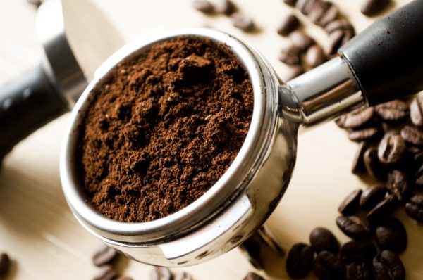 Photo of freshly ground coffee
