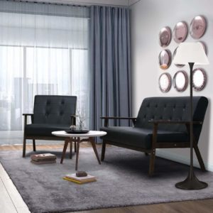 AODAILIHB 2-Piece Living Room Set Black