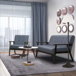 AODAILIHB 2-Piece Living Room Set Grey