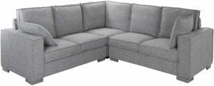 Casa Andrea Milano L Shaped Sectional Sofa Light Grey