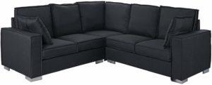 Casa Andrea Milano L Shaped Sectional Sofa Dark Grey