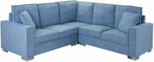 Casa Andrea Milano L Shaped Sectional Sofa Light Blue