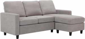 HONBAY Convertible Sectional Couch Gainsboro Grey
