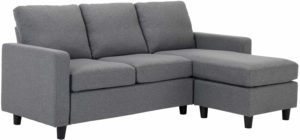 HONBAY Convertible Sectional Couch Grey