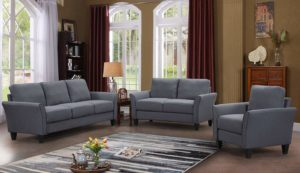 Harper&Bright Designs 3 Piece Living Room Set Grey