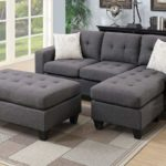 Poundex One Sectional with Ottoman