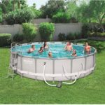 Bestway Power Steel 18ft x 51.6in Round Frame Above Ground Swimming Pool
