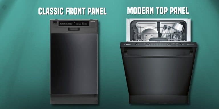 Difference between front panel and top panel controls in dishwashers