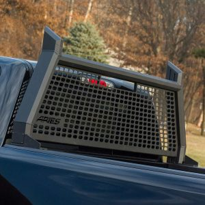 ARIES 1110104 AdvantEDGE Black Aluminum Truck Headache Rack Cab Protector