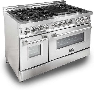 ZLINE 48 in. 6.0 cu. ft. 7 Gas Burner/Electric Oven Range in Stainless Steel