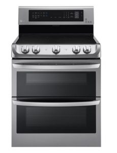 LG LDE4413ST 30 in Stainless Steel Electric Smoothtop Double Oven Range