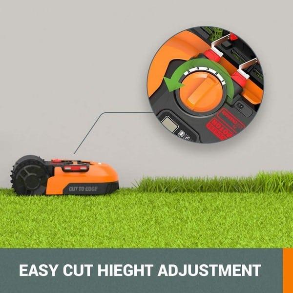 Worx Landroid easy cutting height adjustment