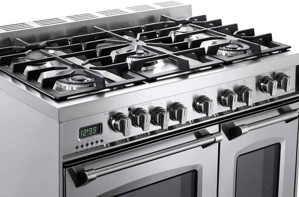 double oven gas stove cooking power